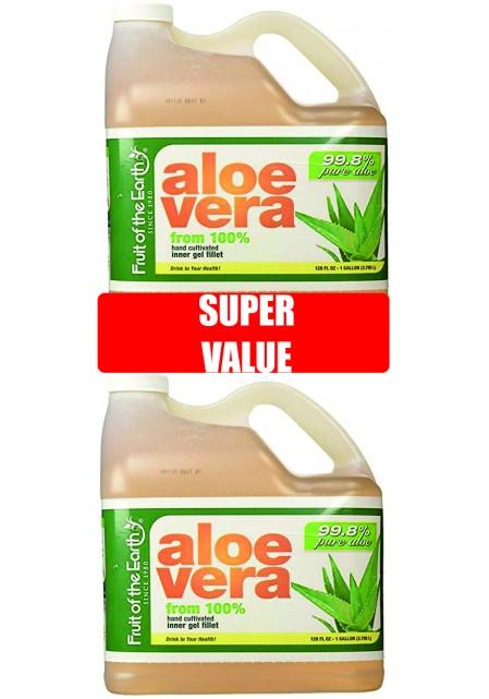 Сок Алое Вера 99.8% от вътрешен гел - изгоден пакет: 2 бр. по 3.8 литра /15.79лв. на литър/